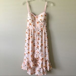 NWT {Band of Gypsies} Floral High-Low Dress Small